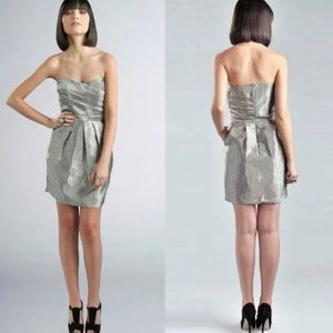 NWT Greylin Anthropologie Metallic Strapless Dress